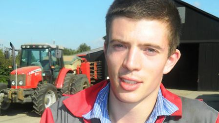 Tom Pirkis, a 24 year old farmer from Debach in Suffolk who is currently studying on the new level f