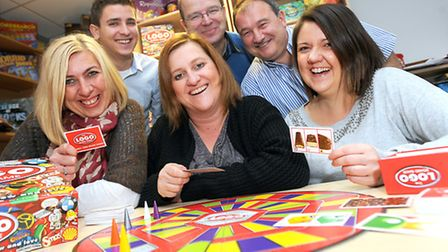 The Drumond Park board games team, front, from left, Kate Campbell, Zara Grant and Emily Bibbings;