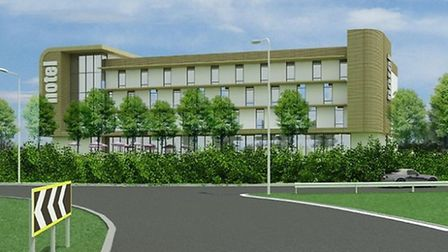 A conceptual image of what the hotel at Martlesham Heath might look like.