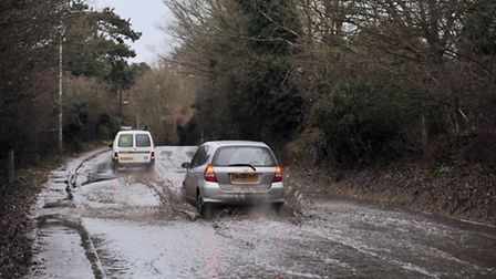 Trees were down and minor floods were on local roads around Suffolk after the high winds on the nigh