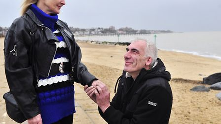 Andy Storey and his girlfriend Denise Tuner, who got engaged on Christmas Day when he proposed durin