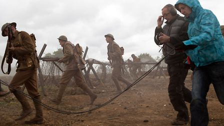 Scenes from Private Peaceful, being filmed on location in Suffolk