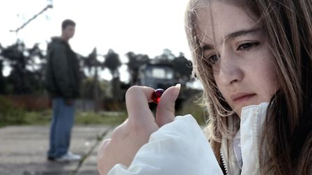 A still from the film Belly of the Wolf which was shot at Bentwaters Park.