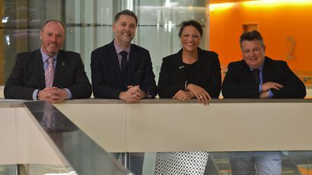 Norfolk and Suffolk NHS Foundation Trust moves into Endeavour House. L-R: Geoff Page (NHFT chairman)