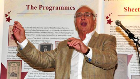 A singsong with Roy at the launch of 'The Hudd Music Hall Archive Project' held at Ipswich Town Hall