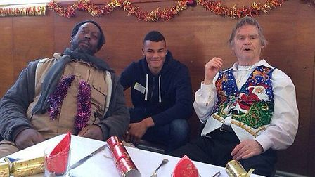 Ipswich Town footballer Tyrone Mings feeding the homeless on Christmas Day.