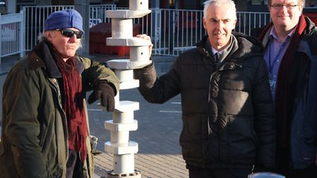 Councillorr Nick Barlow, Colchester council's portfolio holder for regeneration right) with EADT col