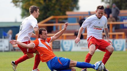 Braintree's Matt Paine getting stuck into the thick of the action