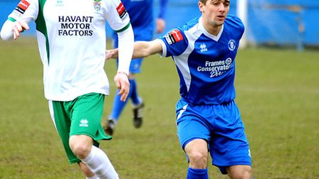Craig Parker (right) in action for Bury Town last season