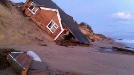 Dramatic scenes at Hemsby as homes were swept to the beach