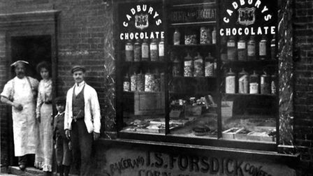 Forsdick's in Manningtree High Street, next to The White Hart. He was the baker from about 1875 to 1
