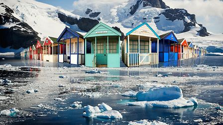 Royal Photographic Society exhibition piece: Global Warming by Gerald D Thompson.