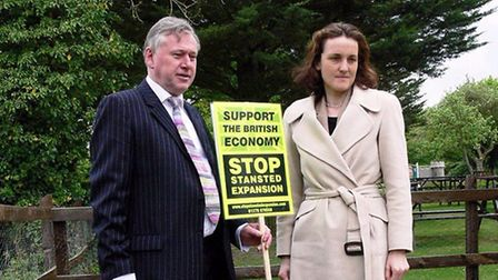 Brian Ross, economics advisor to Stop Stansted Expansion, and Theresa Villiers, when she was Conserv