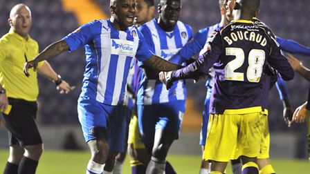 Colchester United lost 4-0 to Notts County at a home match on Saturday, 14 December. Players get in