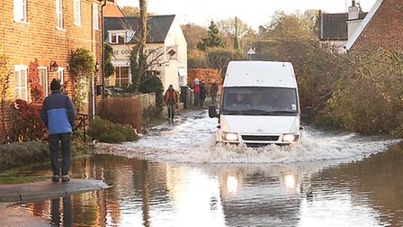 Tidal Surge around Suffolk's coast has caused major disruptions. Roads in Snape have been badly floo