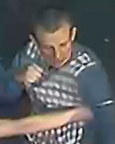 Police want to identify a man caught on CCTV at the time an assault took place which left a man with