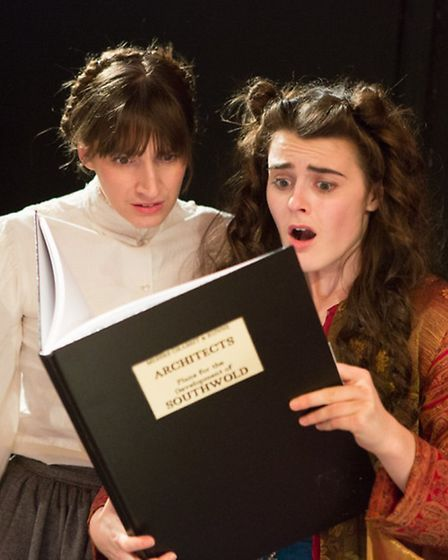 The Brontes of Dunwich Heath (and Cliff) Eastern Angles Christmas Show 2013. Laura Corbett and Sophi
