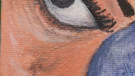 I am scared, a painting by asylum seeker Viththiyaparan