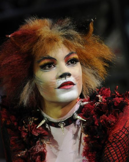 Melissa James as Bombalurina in Cats, at the Ipswich Regent. Picture: Alessandro Pinna