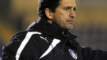 Colchester United boss, Joe Dunne, who did not speak to the press after his side's 4-0 defeat to Not