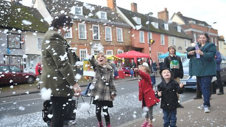 Needham Market was in full swing on Sunday with their Christmas Tree Festival and Christmas Fayre