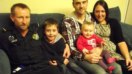 A Haverhill family have thanked paramedic Glen Branch after he helped their baby who had meningitis.