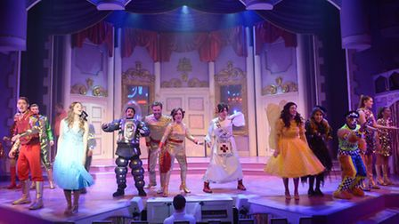 Sleeping Beauty, The Colchester Mercury panto. Sleeping Beauty wakes in the future
