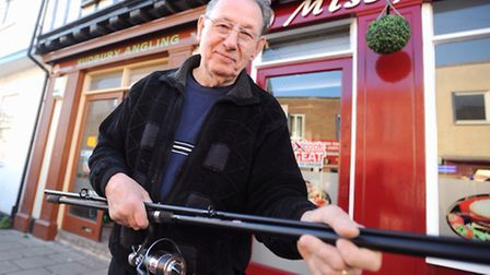 George Rowe, who has decided to hang up his fishing rod after 20 years trading in the town. The sad