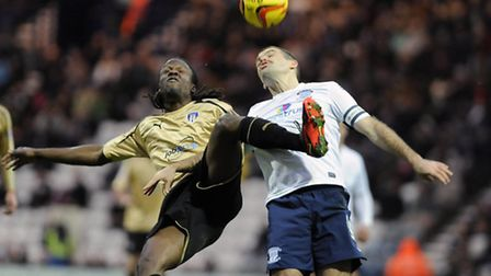Marcus Bean, in action against Preston's John Welsh, remains on the injury list