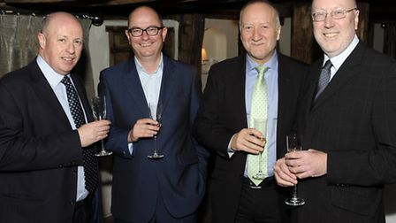 From left, Steve Williams of Fred. Olsen Business Travel with guests Tim Ryan, Steve Flory and Peter