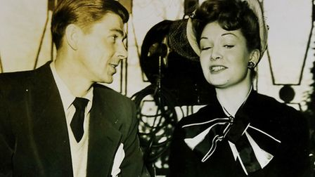 Jean Kent is pictured with a young Ronald Reagan