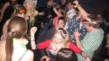 Young farmers enjoy the 'apres ski' at Stowmarket YFC's end-of-year celebration.