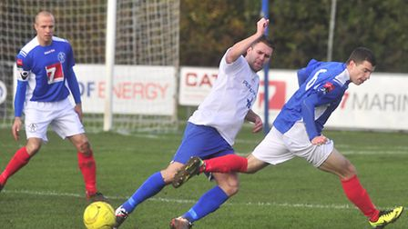 Jack Simmons (right) has returned to Leiston from Colchester for another loan spell
