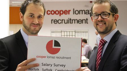 Cooper Lomaz operations director Mark Fletcher, rright, and sales director Richard Mould with the 20