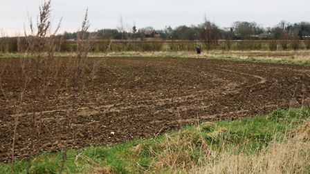 Part of the site that was earmarked for the new Chilton Woods development near Sudbury