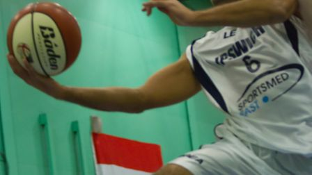 Aaron Moseley soars to the basket against Brixton