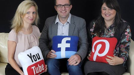 Aime Southgate, creative director, Matthew Anderson, commercial director, and Sarah Tuck, social med