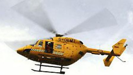 The air ambulance landed in Halesworth to try and help a patient