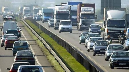Congestion on the existing A14 in Cambridgeshire.