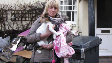 Lucy Huelin with Millie