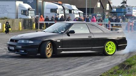 Some of the action at one of Ray Connors' recent Drift-Swich events. Photo by Kev Bennett.
