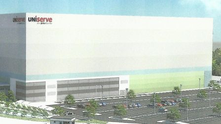 An artist's impression of the new 47,000sq m Uniserve distribution centre proposed for Clickett HIll