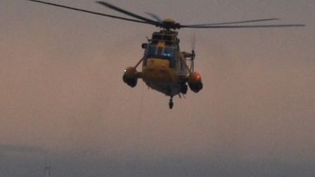 A rescue helicopter from RAF Wattisham.
