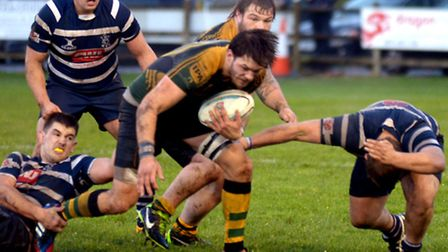 Bury captain Matt Eddison (on the ball) will be a big miss for the Wolfhounds tomorrow