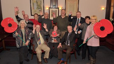 The poppy team at the Stowmarket branch of the Royal British Legion have raised �25,000