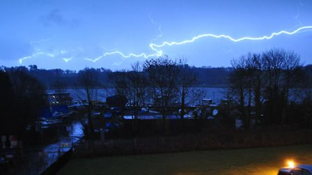 Lightning at Old Maltings Court in Melton this afternoon - captured by reader Sean Turner.