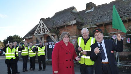 Celebration for Trimley Station Community Trust as the group celebrates signing of lease for the o