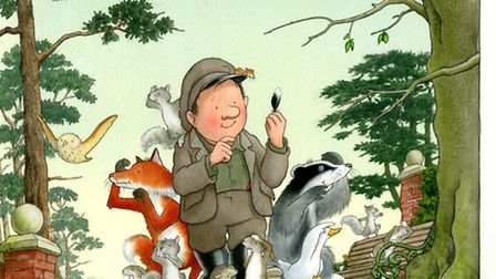 Percy The Park Keeper, illustration for Percy and the Four Feathers by Nicj Butterworth