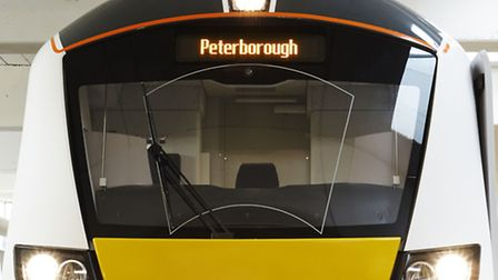Thameslink's new electric Class 700 electric train which was unveiled today.
