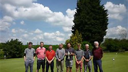 The top players in Diss Golf Club's Roger Laurie men's competition face the camera. Picture: Diss GC